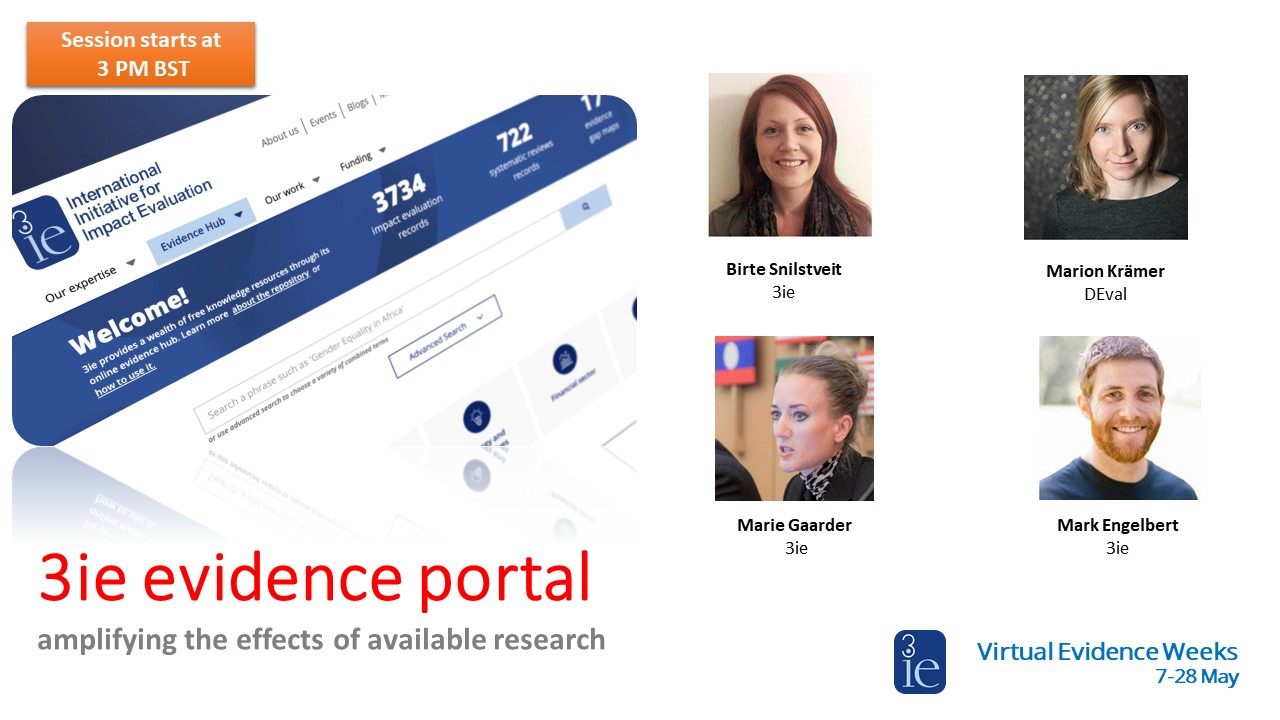 3ie's new Development Evidence Portal: Our expert panel walks you through its features